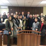 """Gjykatën Themelore në Pejë e vizituan një grup i studentëve të Fakultetit Juridik """"Haxhi Zeka"""" -Pejë"""